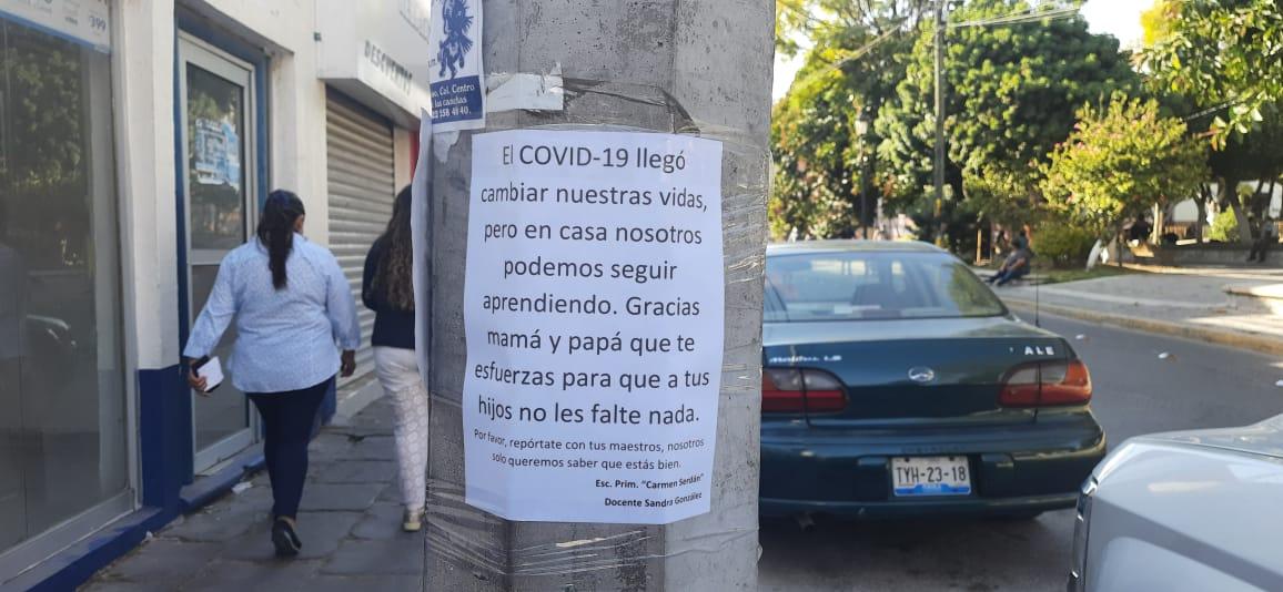Maestros buscan a alumnos para que retornen a clases en Tecamachalco