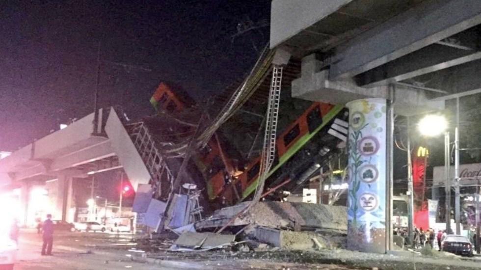 VIDEO Al menos 15 muertos por desplome de puente y vagón del metro en CDMX