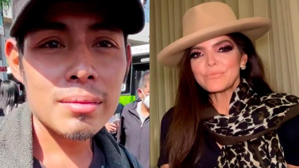 VIDEO Ana Bárbara le canta a Miguel, joven que narró colapso en el Metro