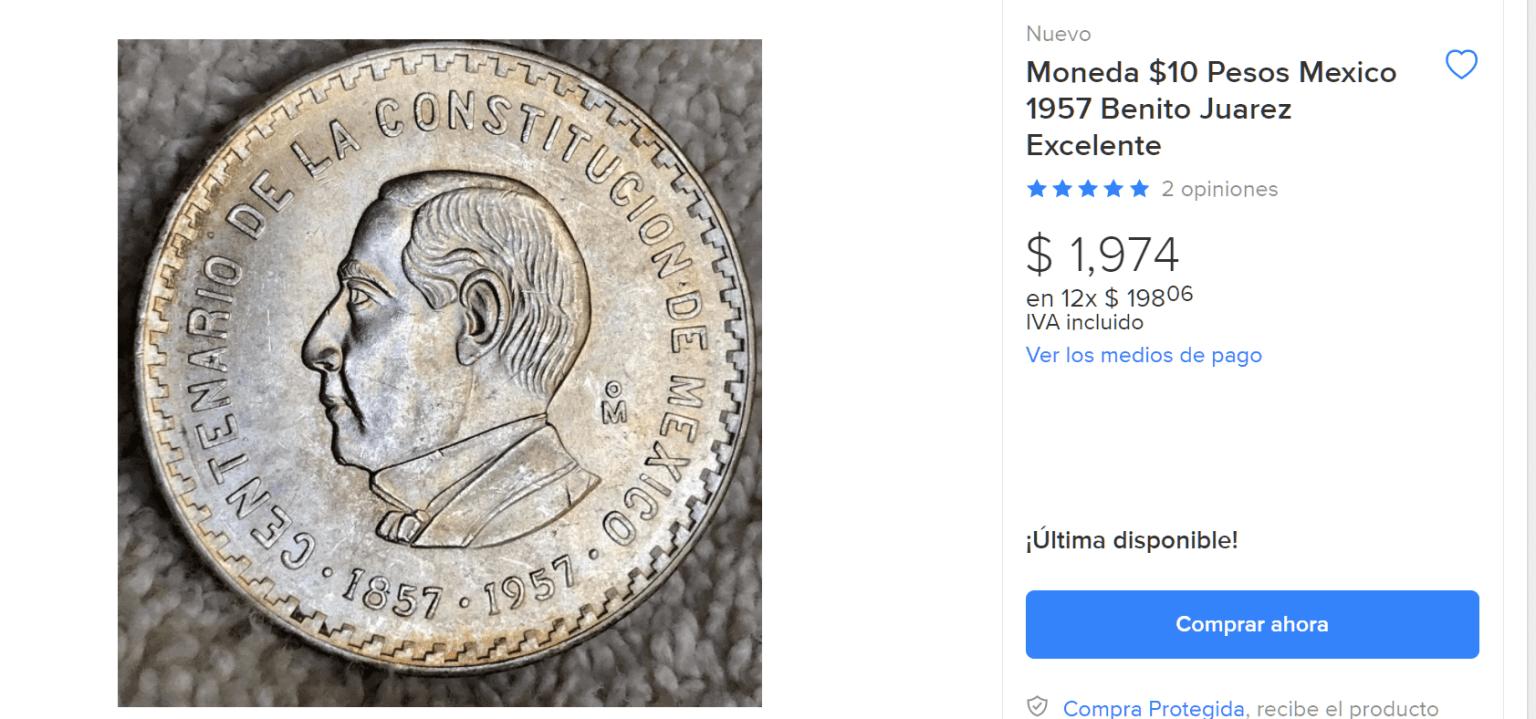 Pagan miles de pesos por moneda con rostro de Benito Juárez