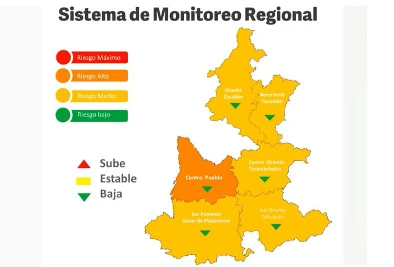 Puebla capital se mantiene en naranja por contagios de Covid