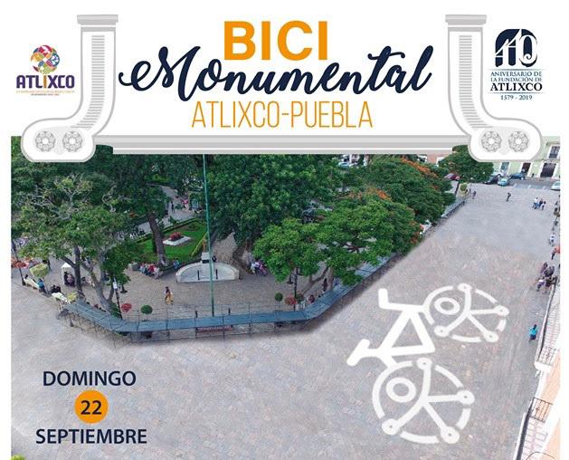 En Atlixco celebrarán Día sin auto con Bici Monumental