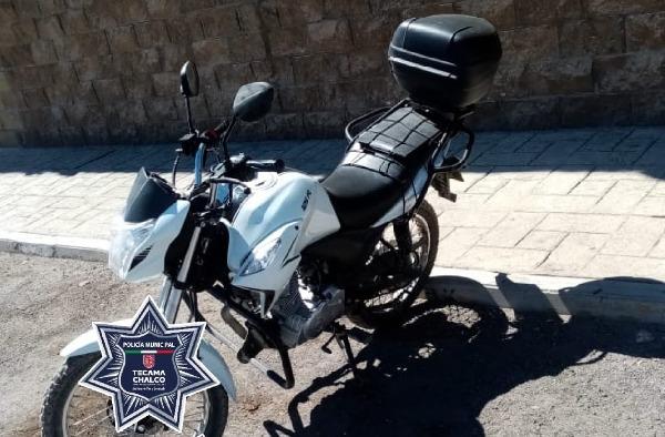 Roban motocicleta, pero mediante operativo la recuperan en Tecamachalco