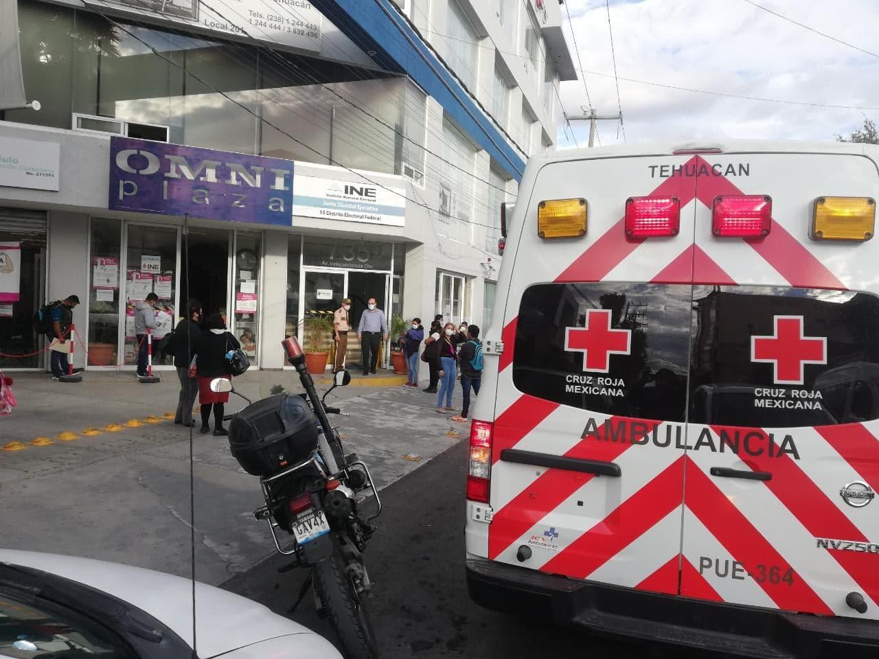 Muere empleado en instalaciones del INE Tehuacán