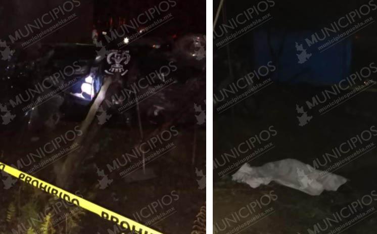 Fallecen dos mujeres al volcar su auto y caer a barranco en Zihuateutla