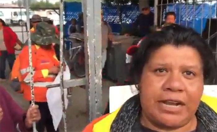 Protestan naranjitas por despidos injustificados