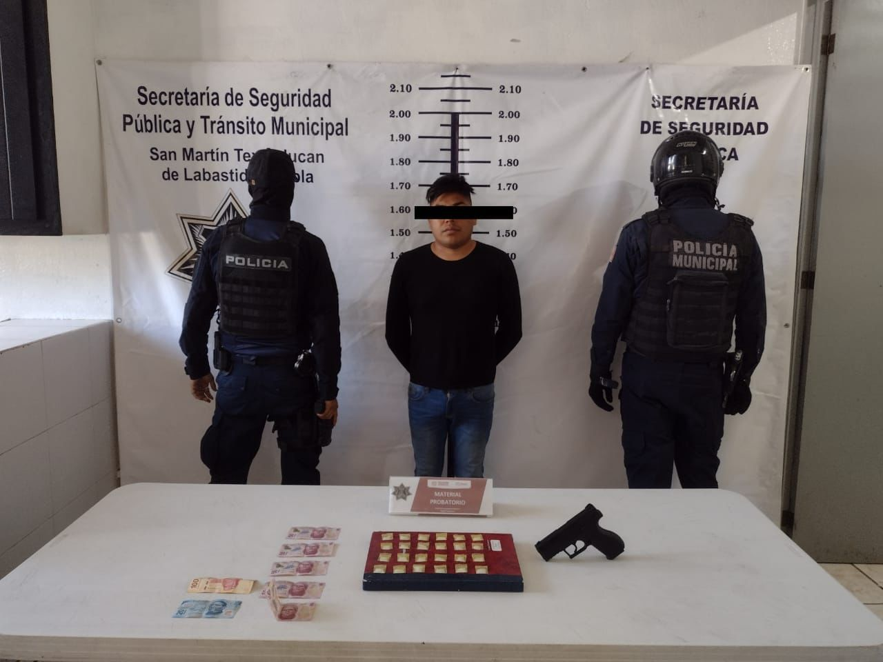 Cae El Caburro con 24 dosis de droga en Texmelucan