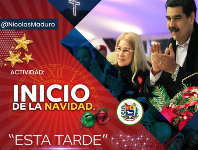 Maduro adelanta la Navidad en Venezuela