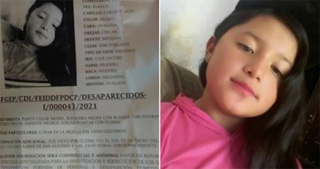 Tras chatear con un desconocido desaparece  Elsi Mareli  de 10 años en Puebla