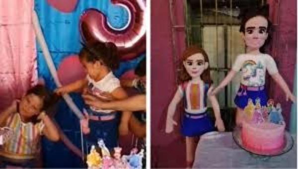 Sólo en México; crean piñatas de las niñas del pastel