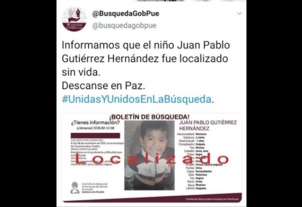 En San Mateo Tlaixpan están de luto tras el hallazgo del niño Juan Pablo