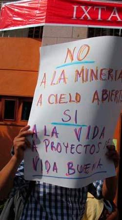 Declararán territorio libre de minería a Ixtacamaxtitlán