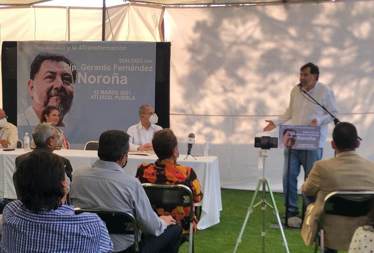 Barbosa no se meterá en la elección interna: Fernández Noroña