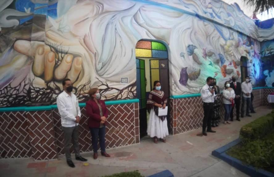 Inauguran los murales de Casa de Cultura de Tecamachalco
