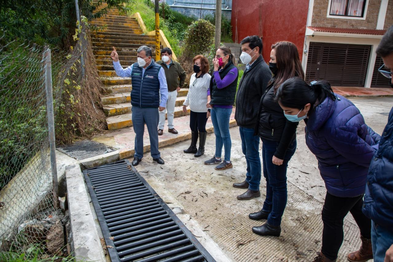 Inaugura Márquez Lecona obras que evitarán inundaciones en Zacatlán
