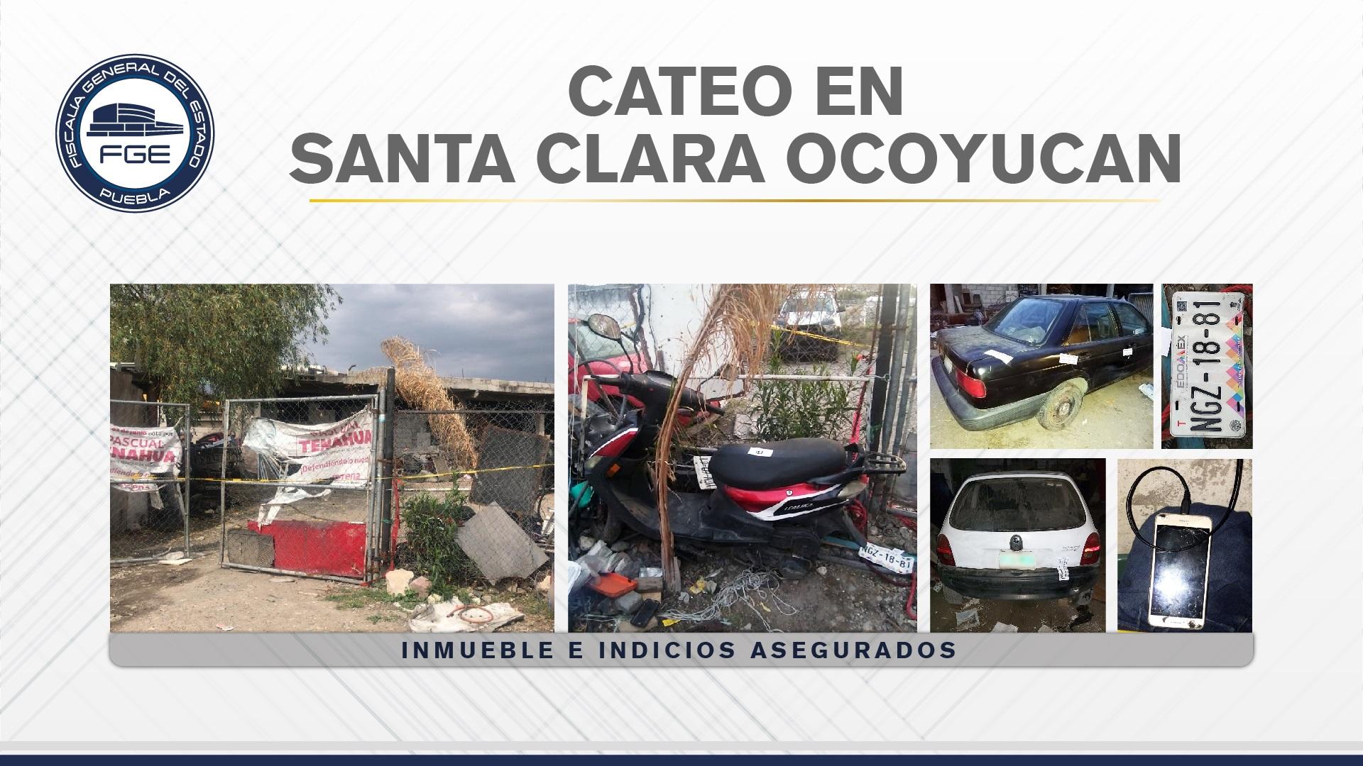 Fiscalía cateó un inmueble con autos robados en Ocoyucan