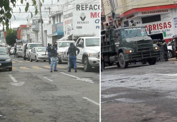 Ejército y policías realizan operativo en la 46 poniente, en Puebla