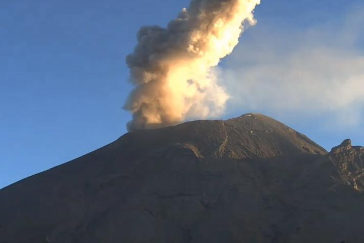 Popocatépetl registra 117 exhalaciones y dos sismos volcanotectónicos
