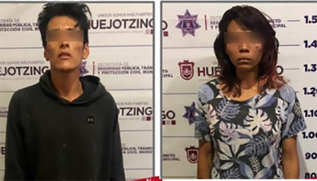 Por sacudir y golpear a bebé de un año detienen a pareja en Huejotzingo