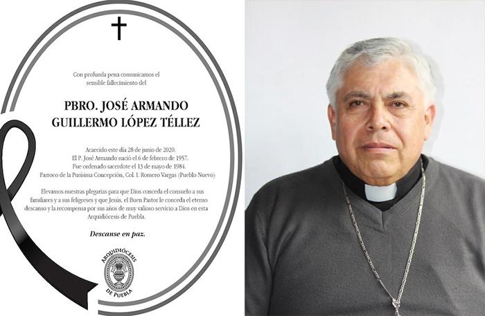 Covid-19 se lleva la vida de otro sacerdote en Puebla; ya son 9 muertos