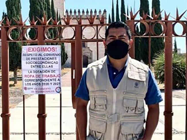 Trabajadores del INAH Tecamachalco piden equipo de trabajo ante el COVID-19