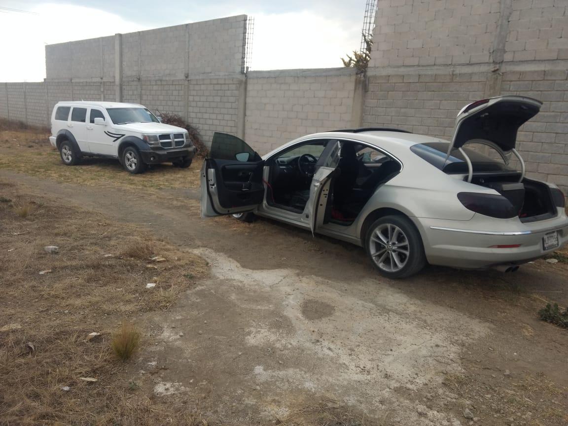 Recuperan vehículos con los que operaba banda de asaltantes en Serdán