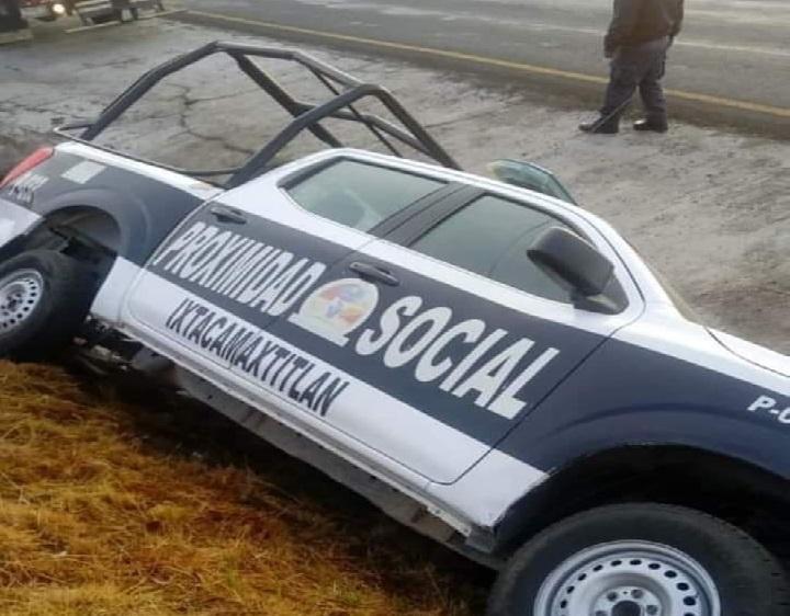 Vuelca patrulla de Ixtacamaxtitlán en Tlaxcala