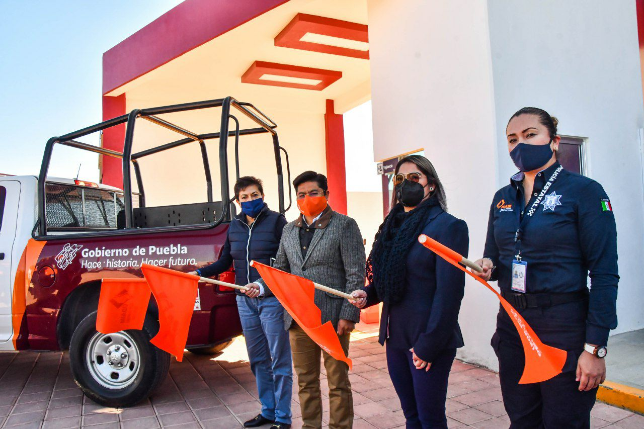 Teutli entrega patrulla naranja para atender casos de violencia