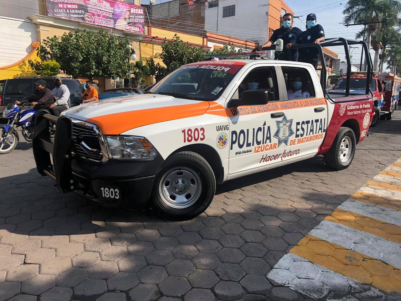 Patrulla Naranja para atender mujeres violentadas, con gran demanda en Izúcar