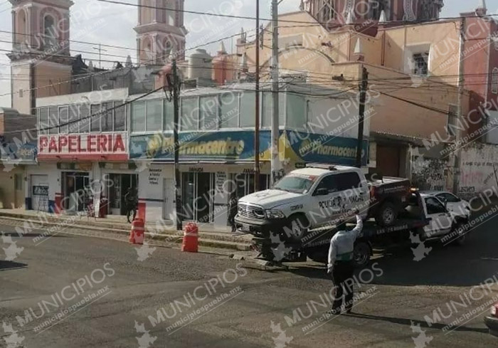 Hallan abandonada patrulla de Tlacotepec robada por comando