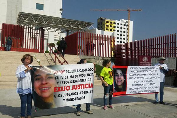 (VIDEO) Claman justicia para Paulina Camargo en Ciudad Judicial