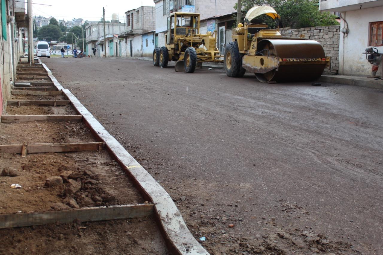 Ayuntamiento de Puebla pavimentará 5 nuevas calles en juntas auxiliares
