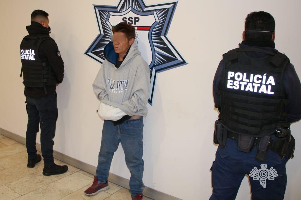 Cae asaltante de ruta 61A que fue captado en cámaras de seguridad en Puebla