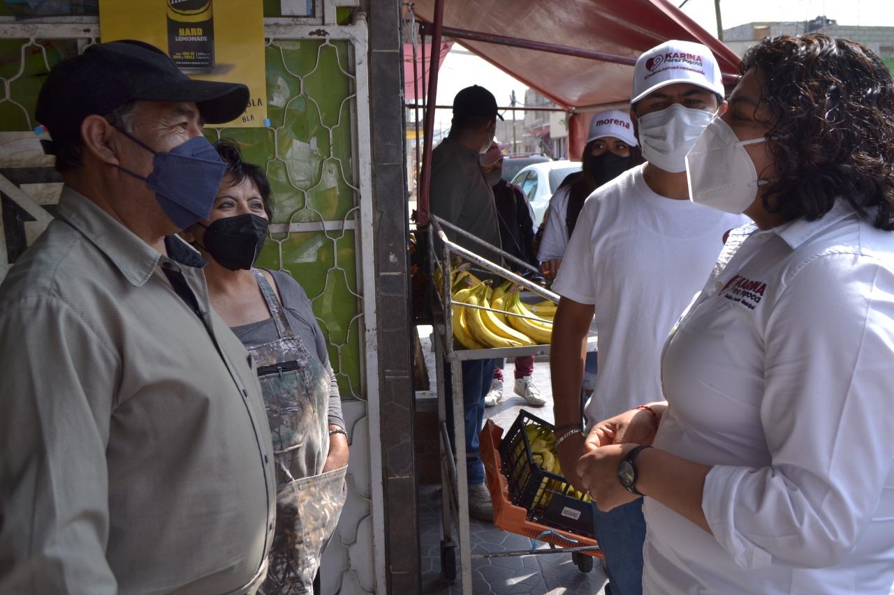 Pérez Popoca ofrece seguridad y tranquilidad para los sanandreseños