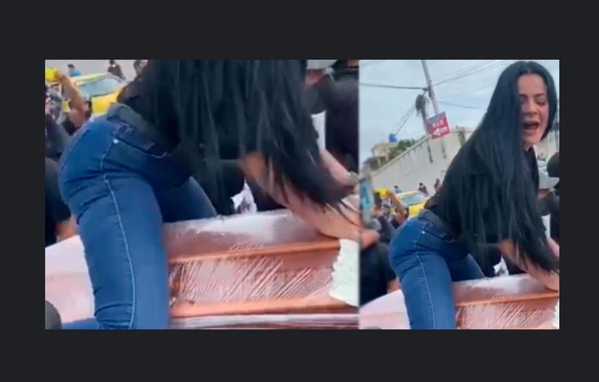 VIDEO Mujer baila reguetón sobre el ataúd de su esposo