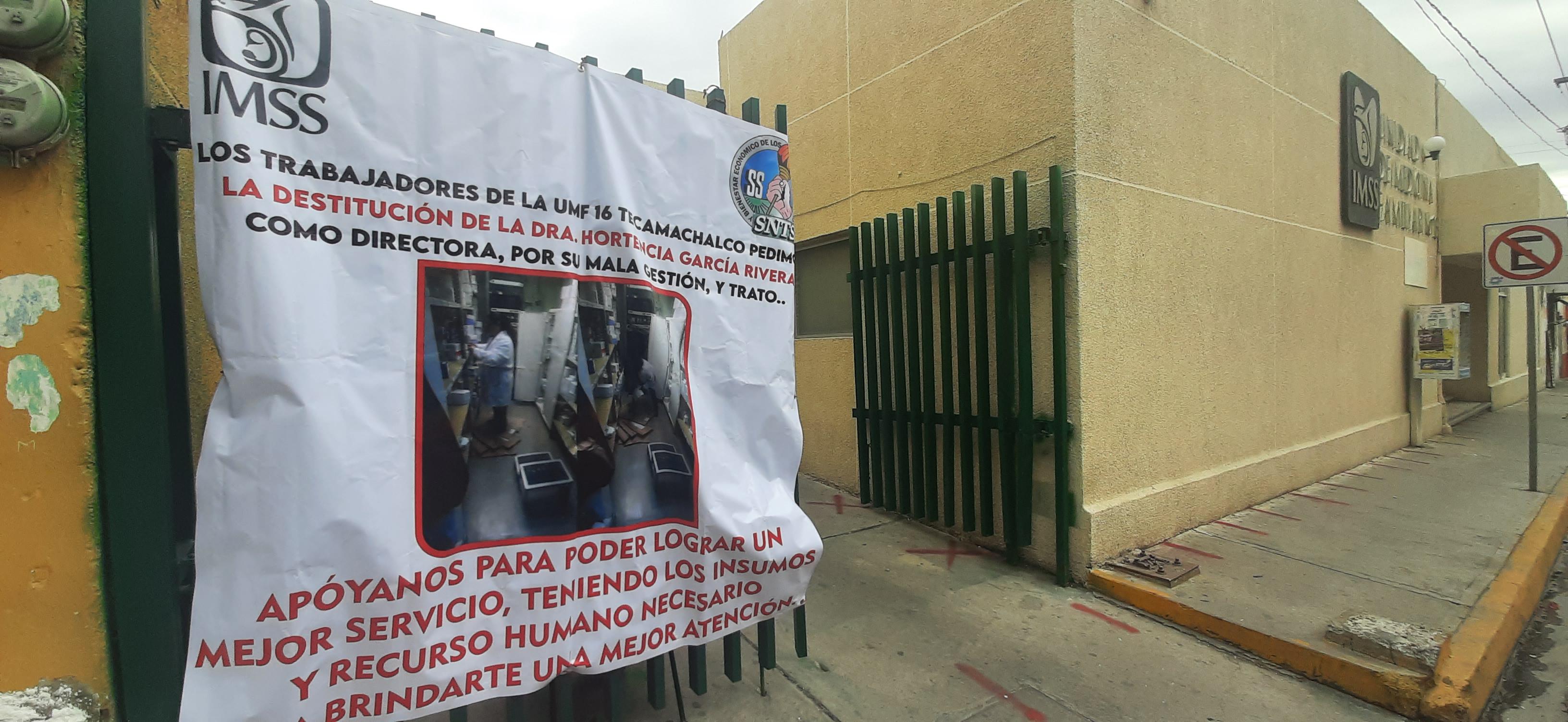 En el IMSS Tecamachalco denuncian falta de insumos par combatir el coronavirus