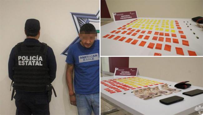 Cae El Pillo con 100 dosis de cocaína y heroína en Puebla capital