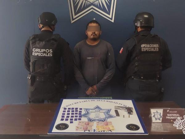 Detienen a El Pingüino; vendía droga en Puebla capital