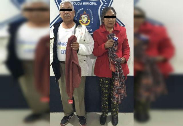 Pareja de la tercera edad es detenida por robar en Atlixco