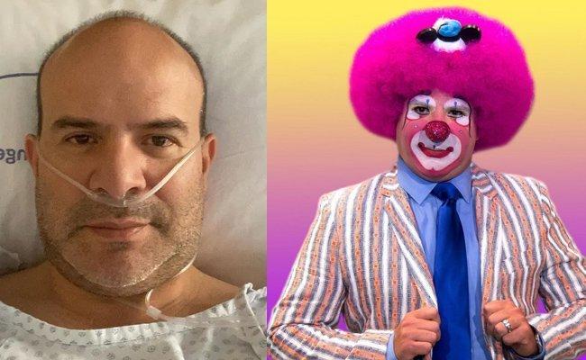 Payaso Platanito enferma de Covid y le afecta al corazón
