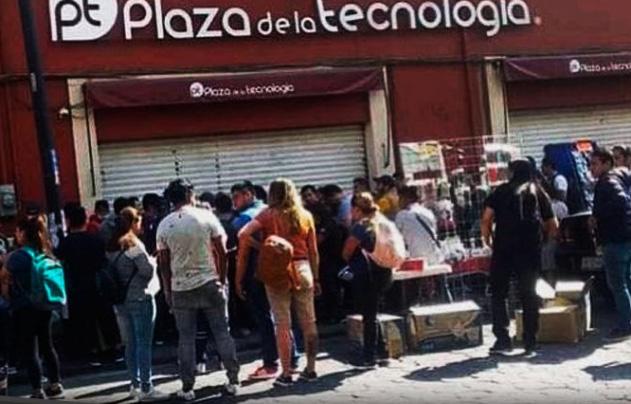 Cierran Plaza de la Tecnología en Puebla ante contingencia