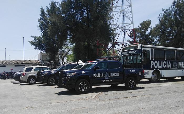 VIDEO Sustituyen a tres mandos de seguridad en Tehuacán
