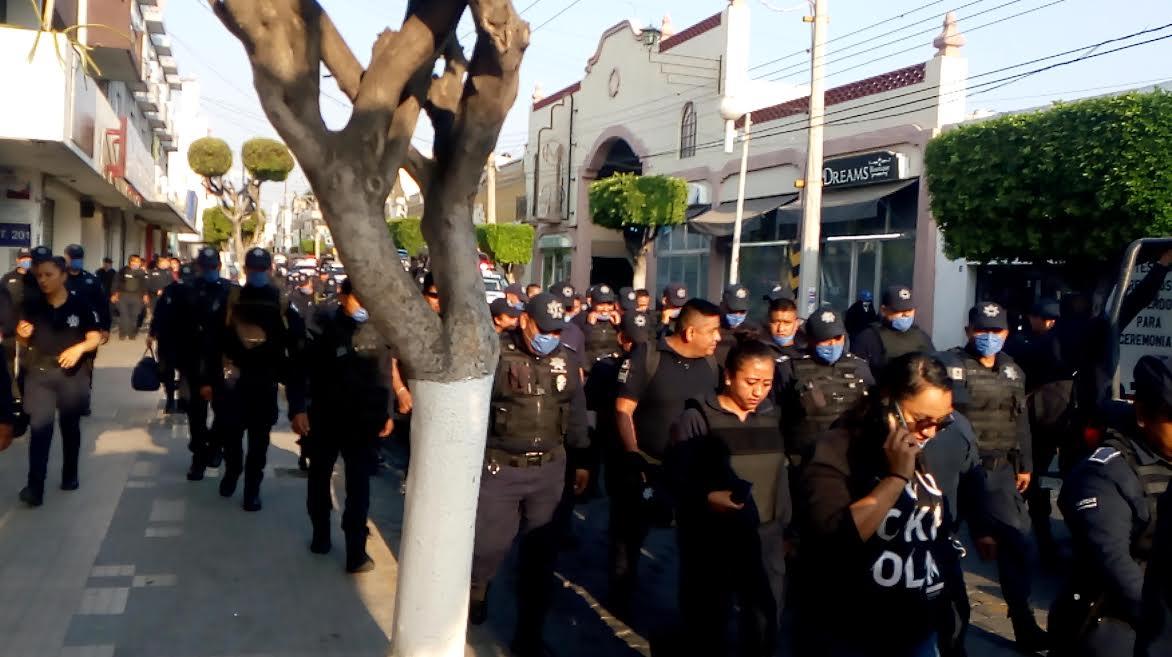 VIDEO En contingencia, policías de Tehuacán denuncian acoso laboral