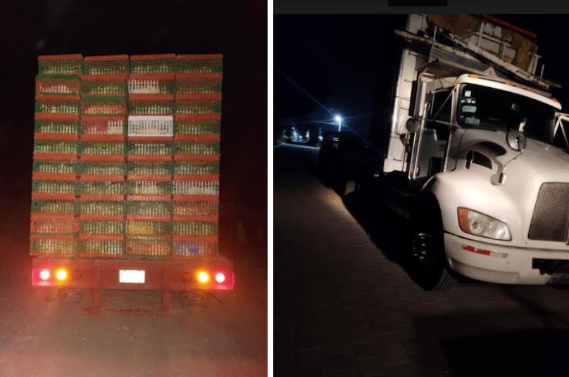 Evitan rapiña y recuperan vehículos cargados con pollo vivo en Tecamachalco