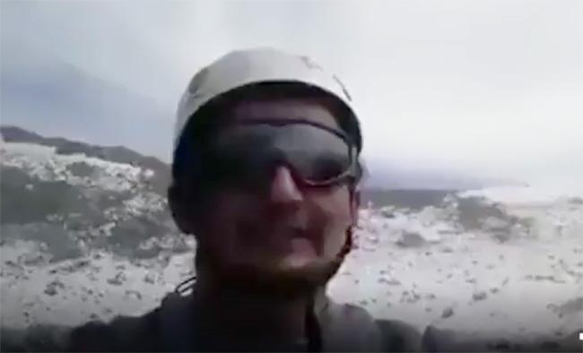 VIDEO Otro excursionista filma ascenso al cráter del Popocatépetl