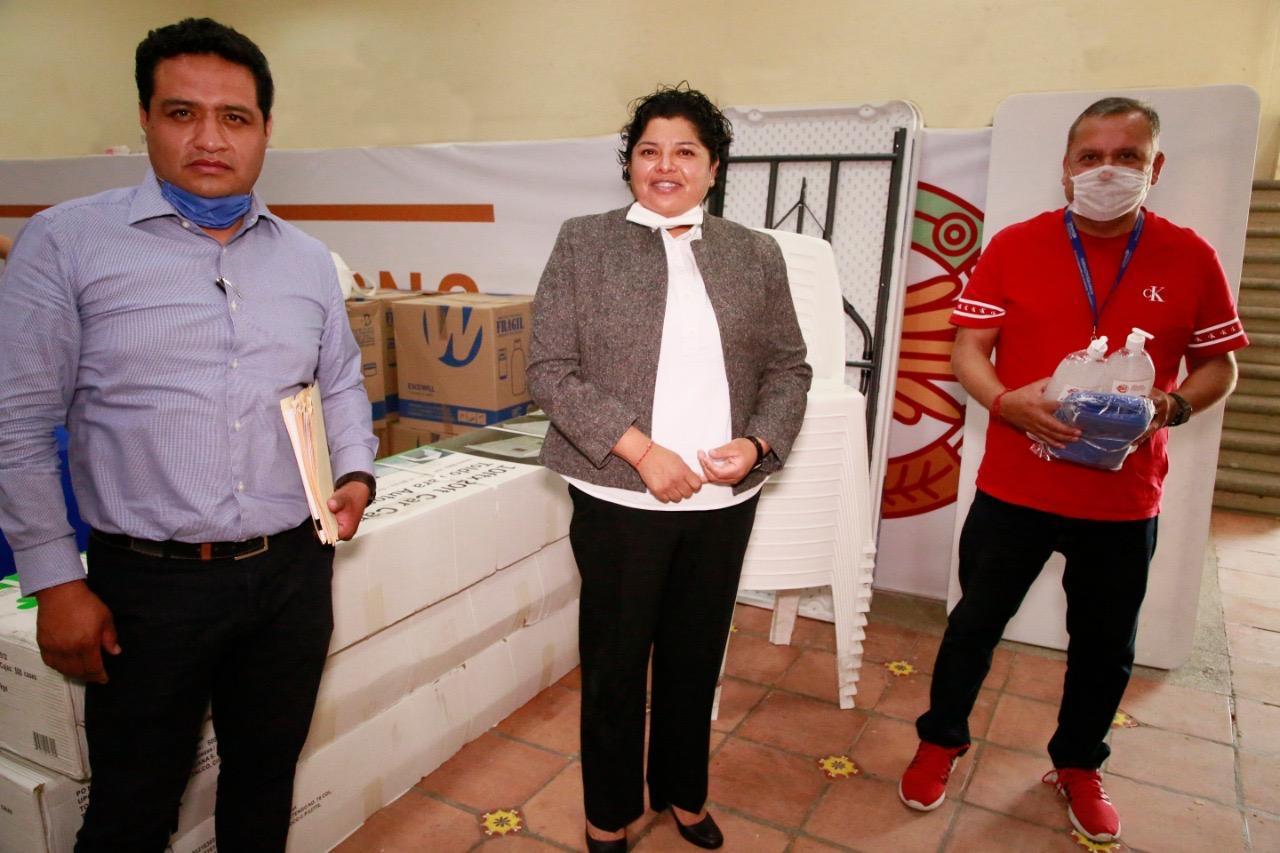 Pérez Popoca entrega apoyos al Hospital General de Cholula