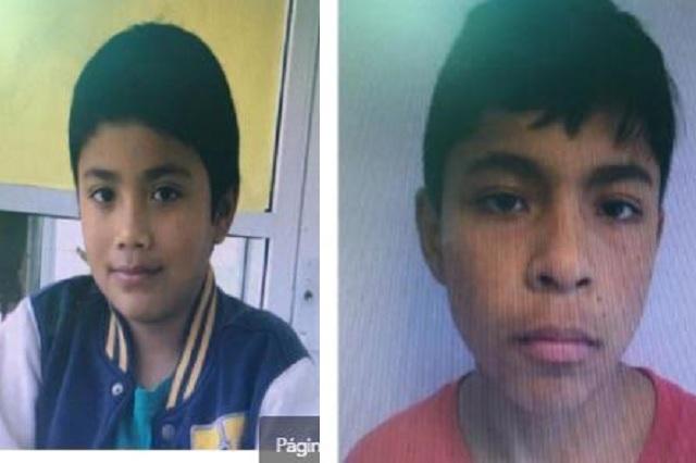 Desaparecen dos niños de 9 y 13 años en Puebla