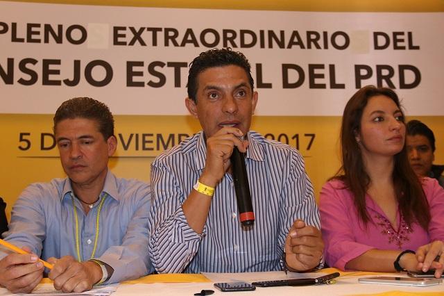 Reconstrucción y reconciliación interna en PRD, tarea de Carlos Martínez