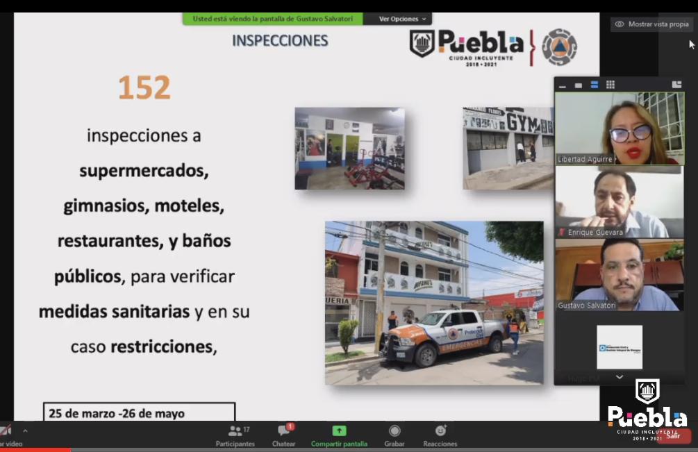 Protección Civil de Puebla, sin facultades para hacer cumplir medidas Covid-19