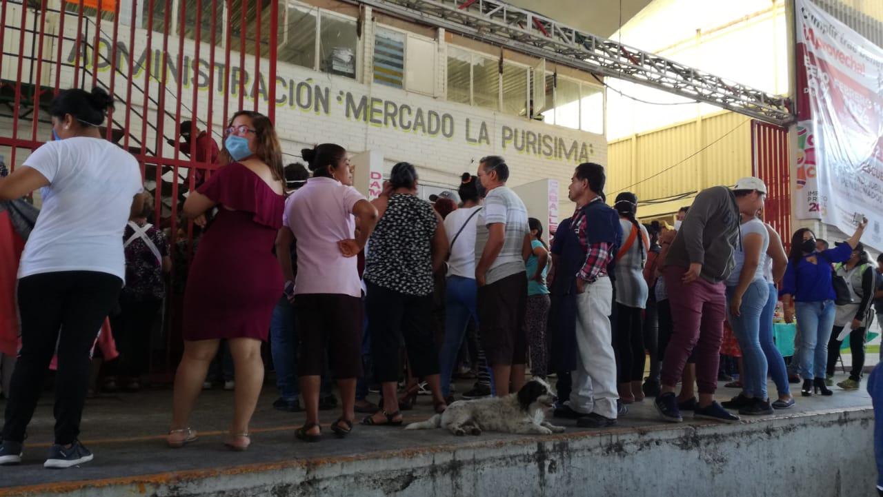 Protestan tianguistas de La Purísima por nuevo administrador